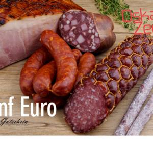 Fünf Euro Gutschein