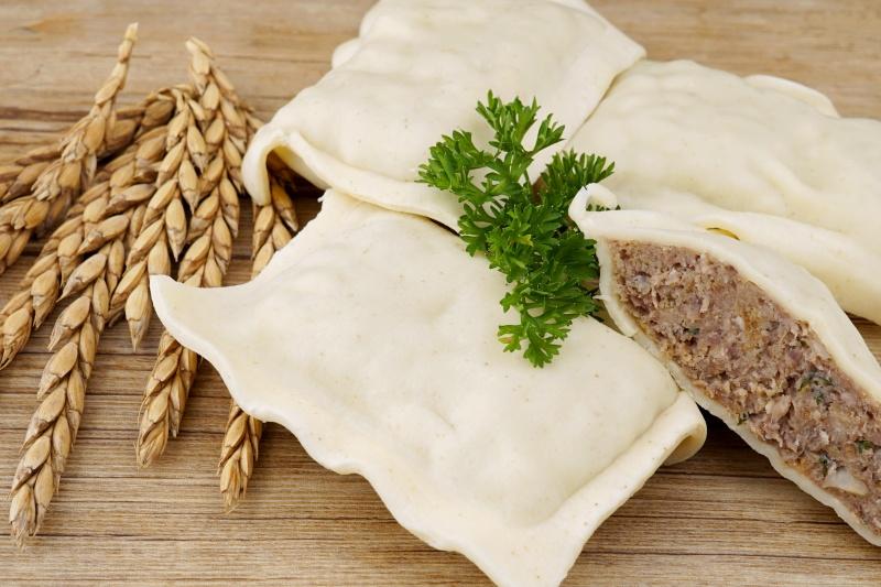 Albgemacht Rinder-Maultaschen mit Dinkelteig